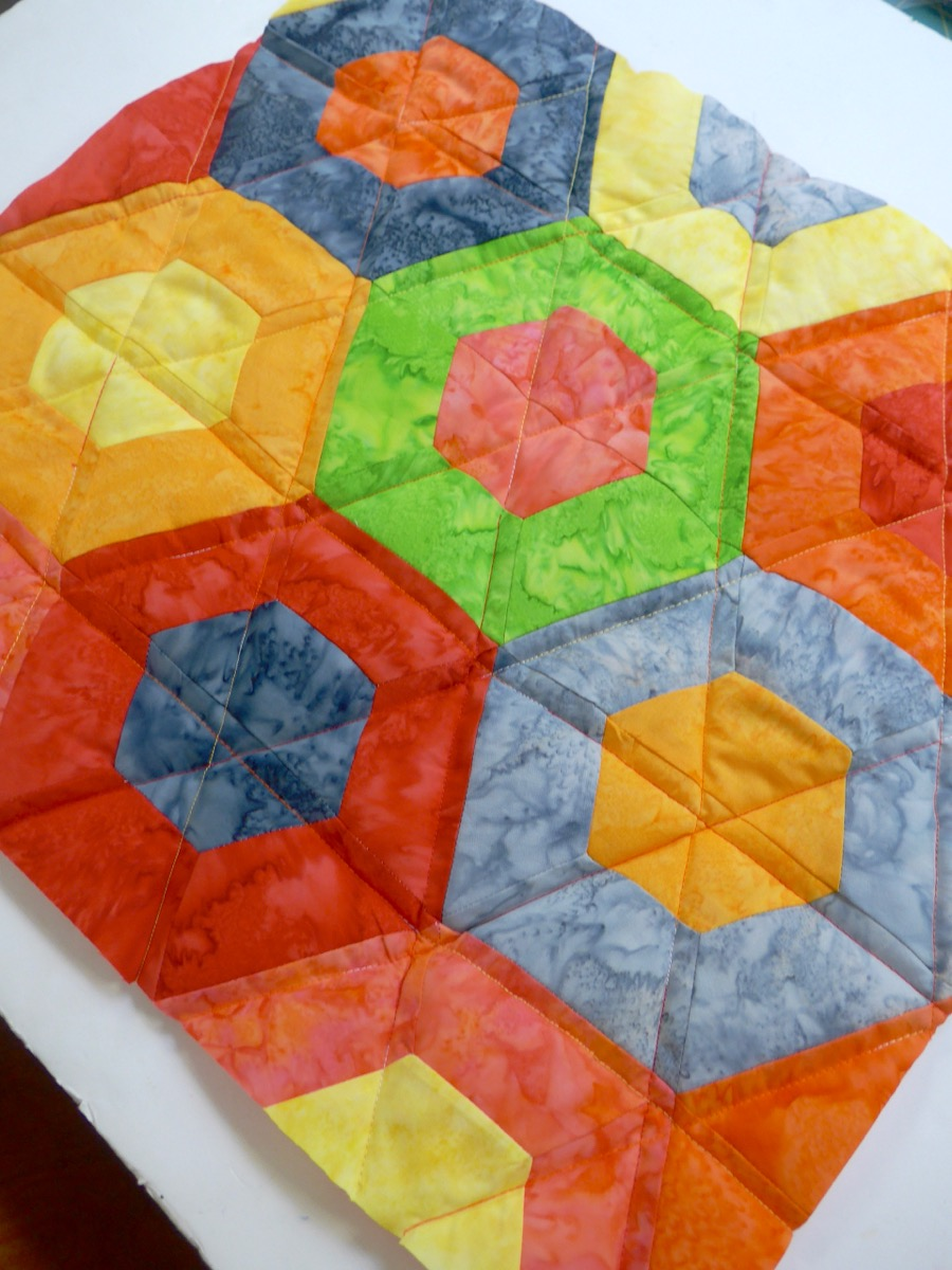 Tuto : Patchwork hexagone avec un roll