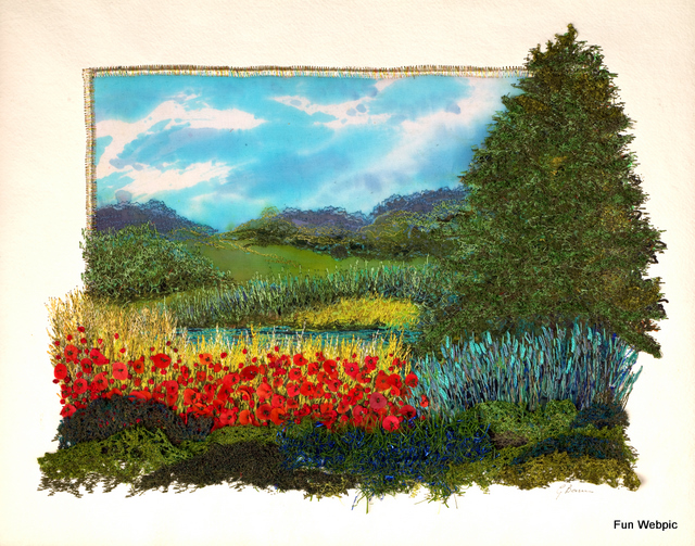 Tree by the poppies 61 x 41cm