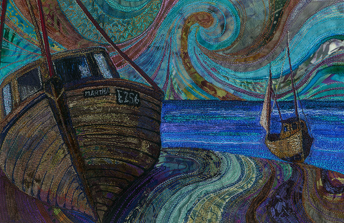 Martha's Journey An original machine embroidery by Rachel Wright