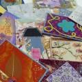 Un échange de cartes textiles pour la fin d'année