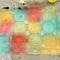 Teinture d'un napperon avec de la teinture procion