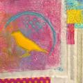 Panneau aux oiseaux et encreurs textile
