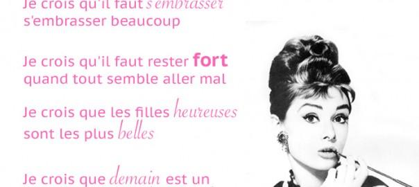 Je crois au rose - Audrey Hepburn