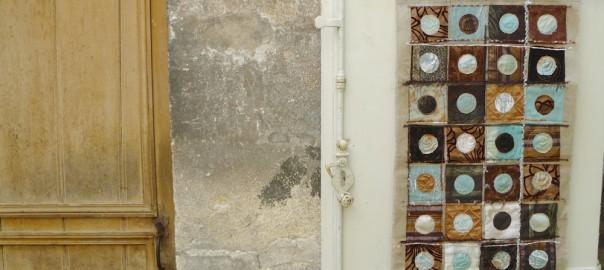 Ronds et carrés, modèle patchwork contemporain gratuit