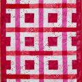 Modèle de patchwork gratuit : Gaufre à la fraise
