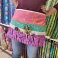 Tuto : Un tablier multipoche en tissu Tula Pink